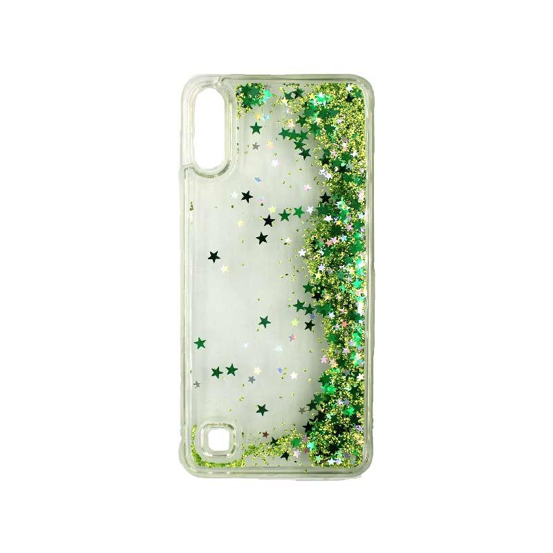 Samsung Galaxy A10 / M10 Liquid Glitter πράσινο 2
