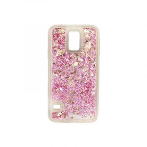 Θήκη Samsung Galaxy S5 Liquid Glitter ροζ χρυσό 1