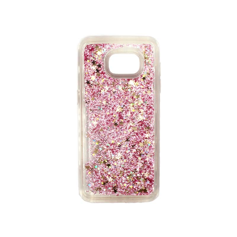 Θήκη Samsung Galaxy S7 Edge Liquid Glitter ροζ χρυσό 1