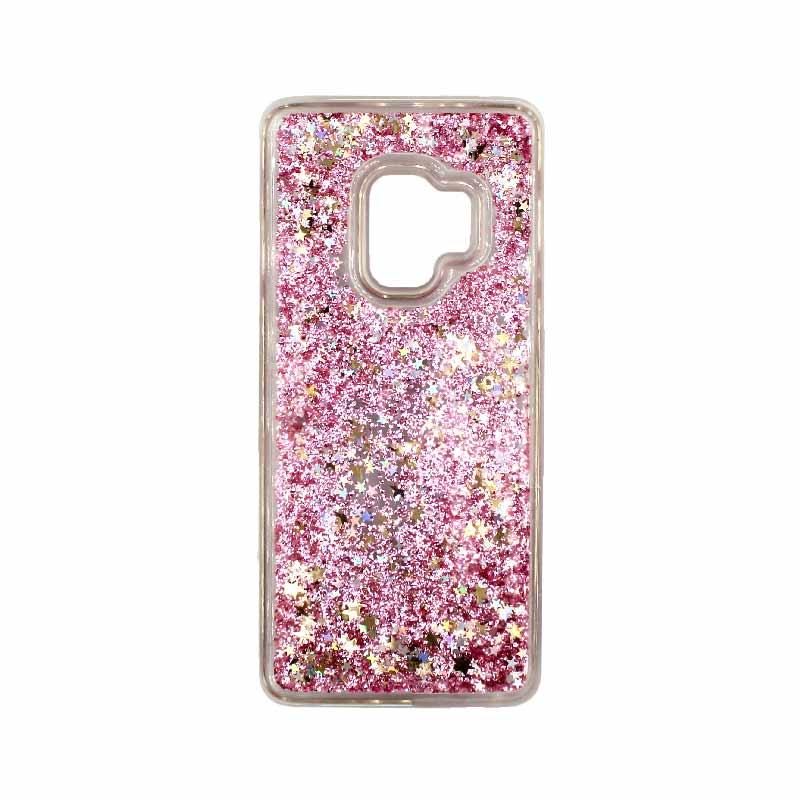 Θήκη Samsung Galaxy S9 Liquid Glitter ροζ χρυσό 1