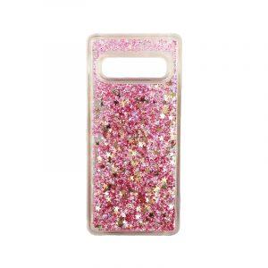 Θήκη Samsung Galaxy S10 Liquid Glitter ροζ χρυσό 1