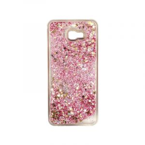 Θήκη Samsung Galaxy J4 Plus Liquid Glitter ροζ χρυσό 1