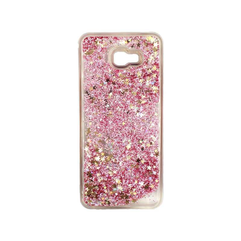 Θήκη Samsung Galaxy J4 Plus Liquid Glitter ροζ χρυσό 1
