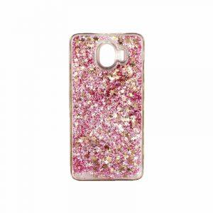 Θήκη Samsung Galaxy J4 Liquid Glitter ροζ χρυσό 1