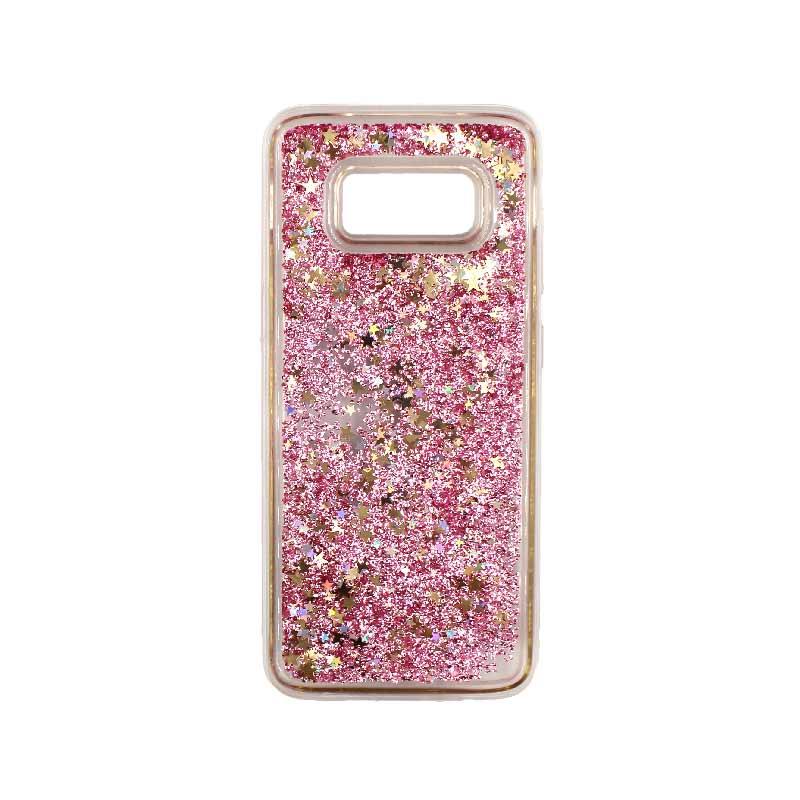 Θήκη Samsung Galaxy S8 Liquid Glitter ροζ χρυσό 1
