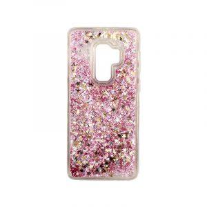 Θήκη Samsung Galaxy S9 Plus Liquid Glitter ροζ χρυσό 1