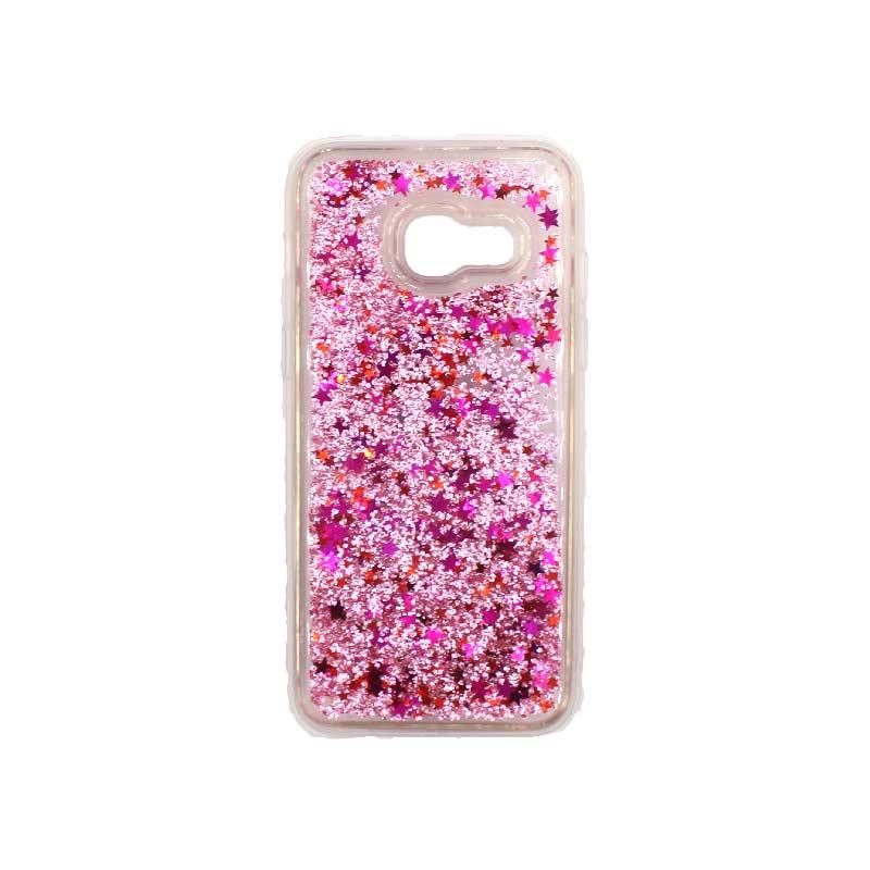 Θήκη Samsung Galaxy A3 2017 Liquid Glitter ροζ 1