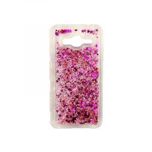 Θήκη Samsung Galaxy J3 2016 Liquid Glitter ροζ 1