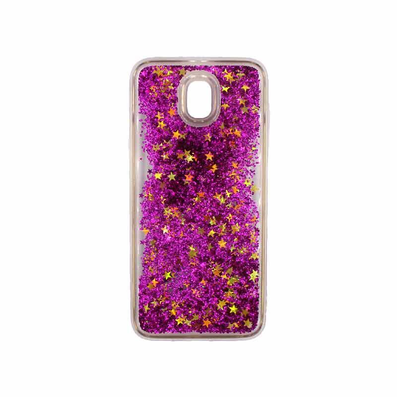 Θήκη Samsung Galaxy J3 2017 Liquid Glitter φουξ 1