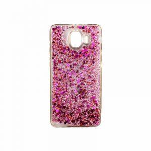 Θήκη Samsung Galaxy J4 Liquid Glitter ροζ 1