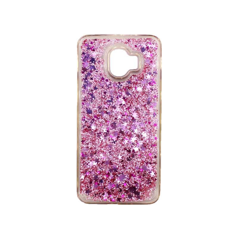 Θήκη Samsung Galaxy J2 Pro Liquid Glitter ροζ 1