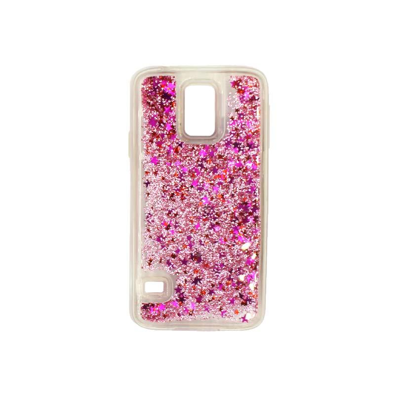 Θήκη Samsung Galaxy S5 Liquid Glitter ροζ 1