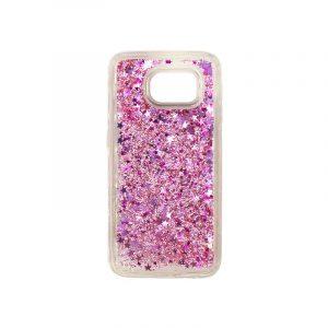 Θήκη Samsung Galaxy S6 Liquid Glitter ροζ 1