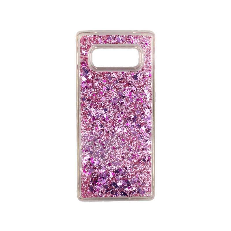 Θήκη Samsung Galaxy Note 8 Liquid Glitter ροζ 1