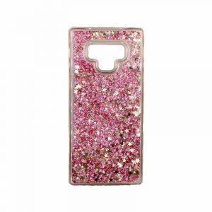 Θήκη Samsung Galaxy Note 9 Liquid Glitter ροζ 1