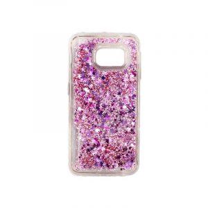 Θήκη Samsung Galaxy S6 Edge Liquid Glitter ροζ 1