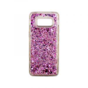 Θήκη Samsung Galaxy S8 Liquid Glitter ροζ 1