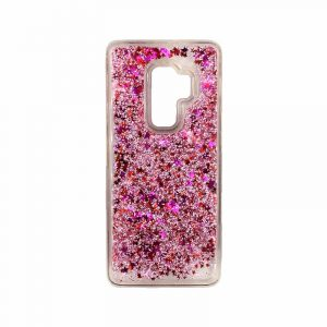 Θήκη Samsung Galaxy S9 Plus Liquid Glitter ροζ 1