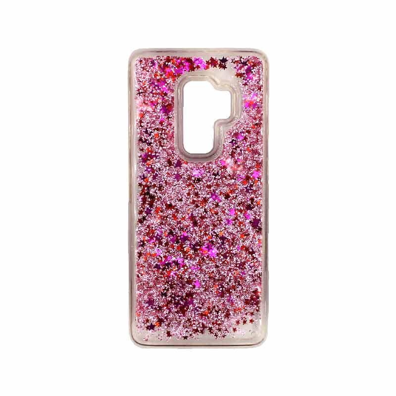 Θήκη Samsung Galaxy S9 Plus Liquid Glitter ροζ 1