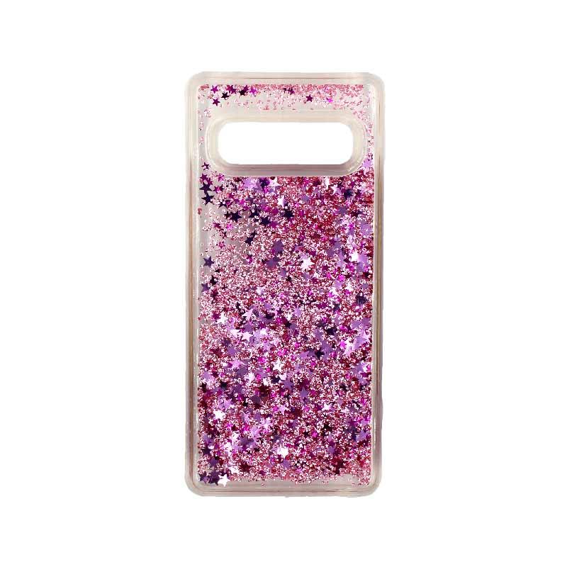 Θήκη Samsung Galaxy S10 Liquid Glitter ροζ 1