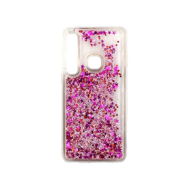 Θήκη Samsung Galaxy A9 2018 Liquid Glitter ροζ 1
