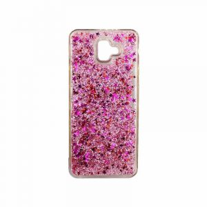 Θήκη Samsung Galaxy J6 Plus Liquid Glitter ροζ 1
