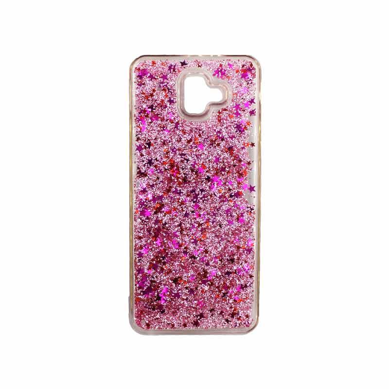 Θήκη Samsung Galaxy J6 Plus Liquid Glitter ροζ 1