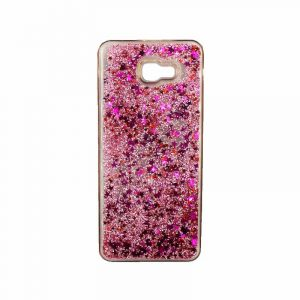 Θήκη Samsung Galaxy J4 Plus Liquid Glitter ροζ 1
