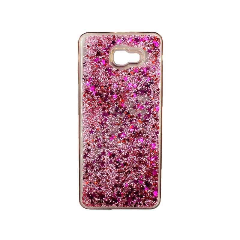 Θήκη Samsung Galaxy J4 Plus Liquid Glitter ροζ 1