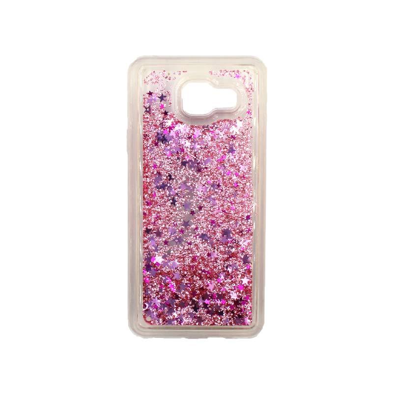 Θήκη Samsung Galaxy A3 2016 Liquid Glitter ροζ 1