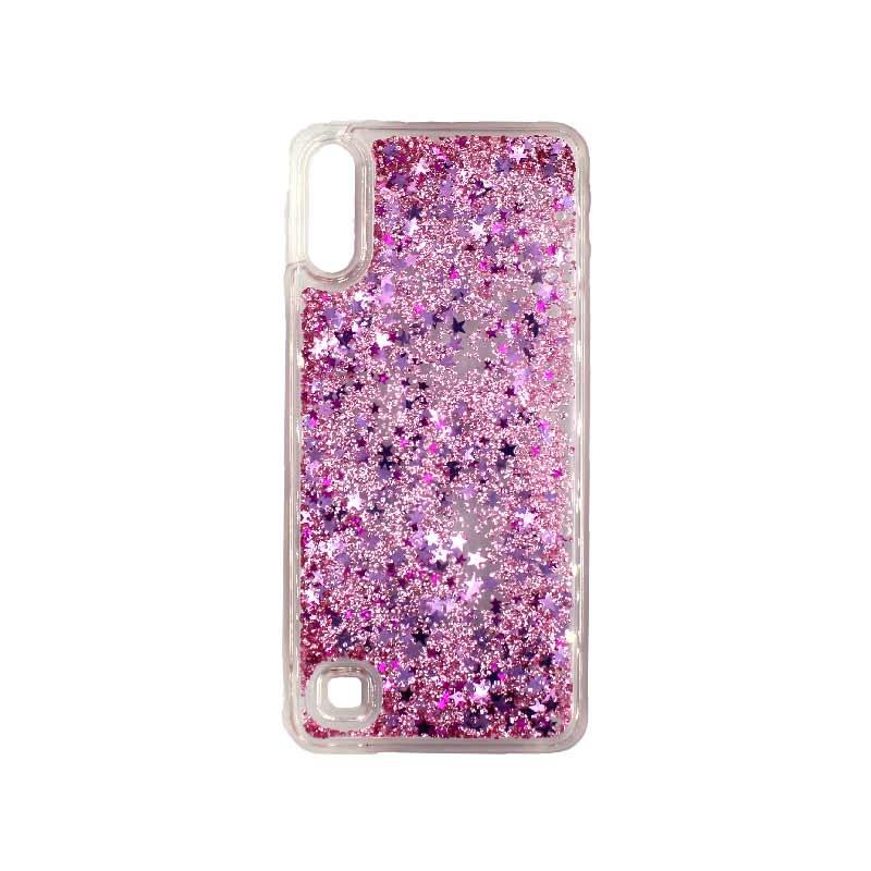 Samsung Galaxy A10 / M10 Liquid Glitter ροζ 1