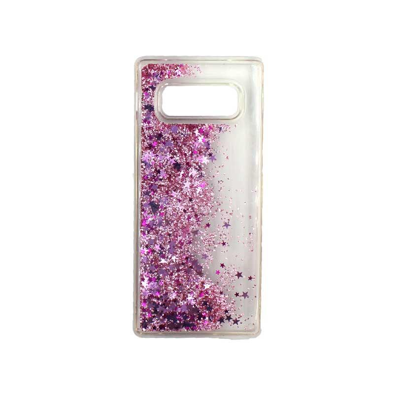 Θήκη Samsung Galaxy Note 8 Liquid Glitter ροζ 2