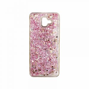 Θήκη Samsung Galaxy J6 Plus Liquid Glitter απαλό ροζ 1