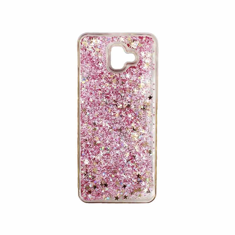 Θήκη Samsung Galaxy J6 Plus Liquid Glitter απαλό ροζ 1
