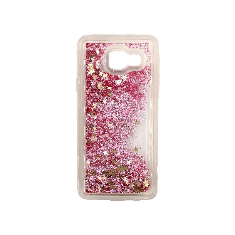 Θήκη Samsung Galaxy A3 2016 Liquid Glitter απαλό ροζ 1