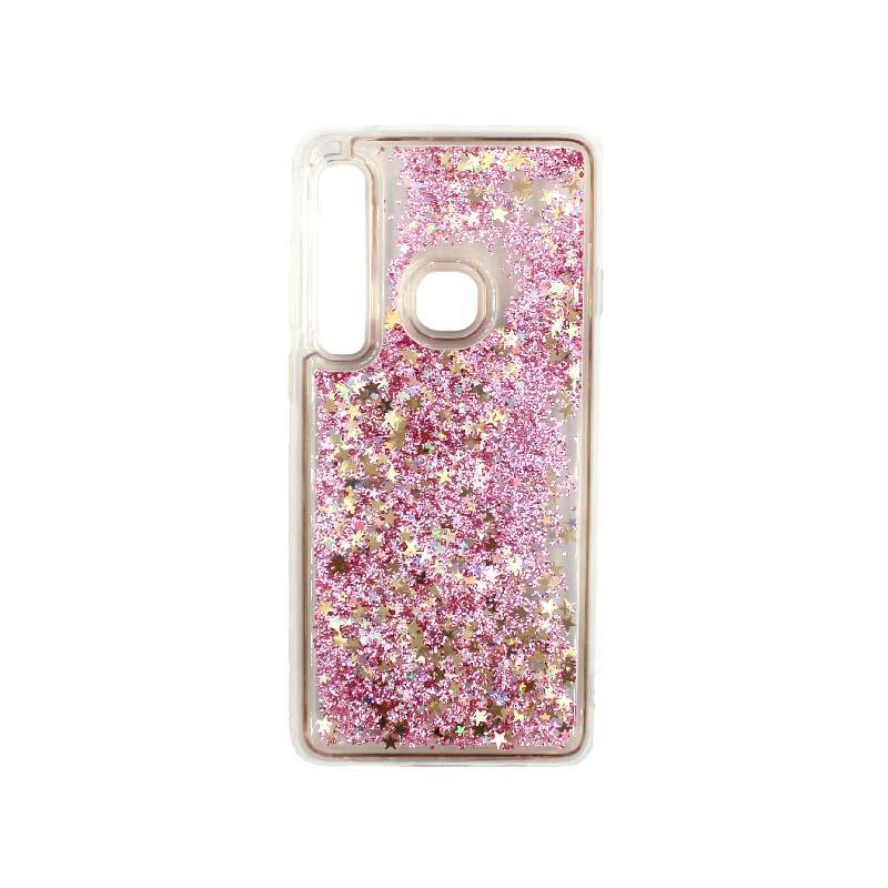 Θήκη Samsung Galaxy A9 2018 Liquid Glitter ροζ χρυσό 1