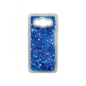 Θήκη Samsung Galaxy J7 2016 Liquid Glitter μπλε 1