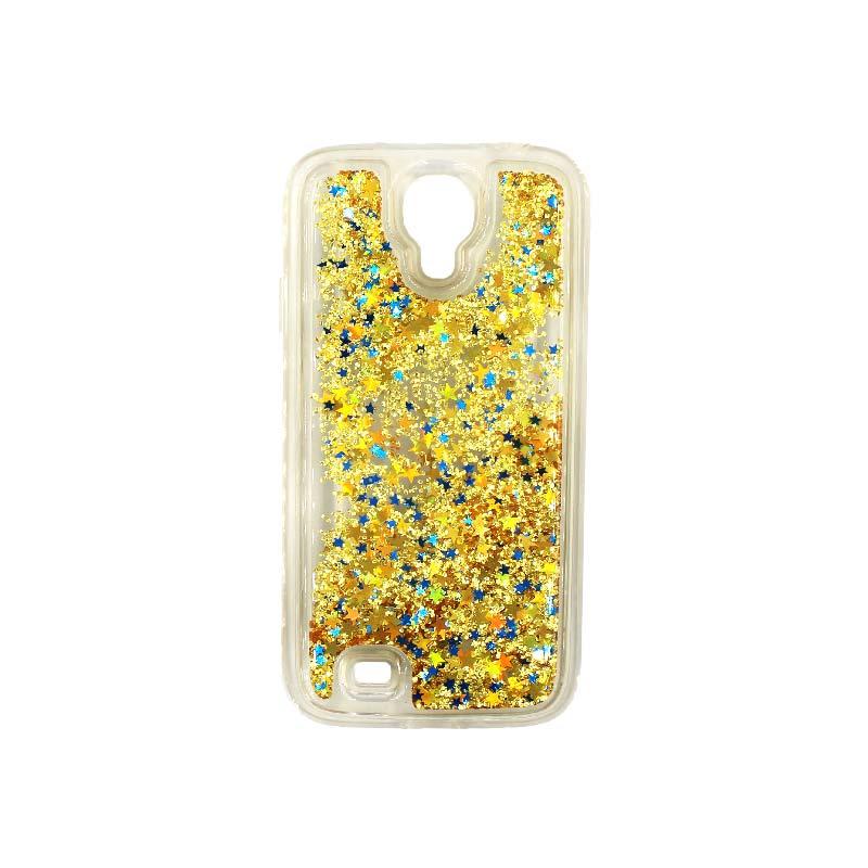 Θήκη Samsung Galaxy S4 Liquid Glitter χρυσό 1