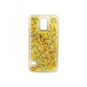 Θήκη Samsung Galaxy S5 Liquid Glitter χρυσό 1