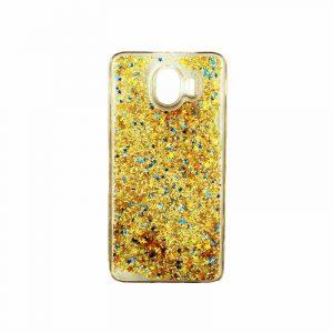 Θήκη Samsung Galaxy J4 Liquid Glitter χρυσό 1