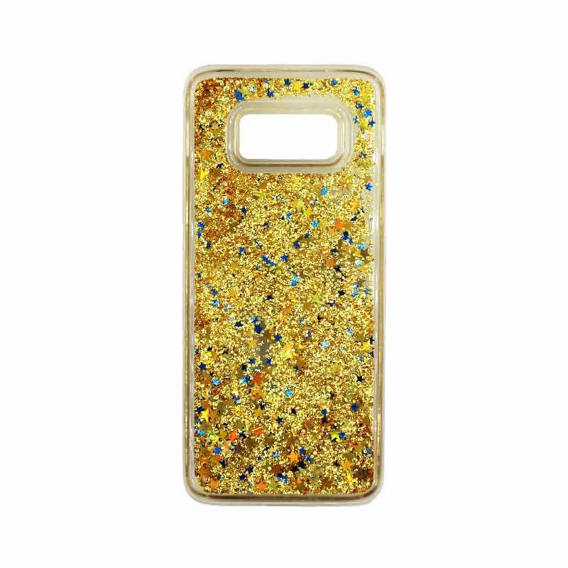 Θήκη Samsung Galaxy S8 Liquid Glitter χρυσό 1