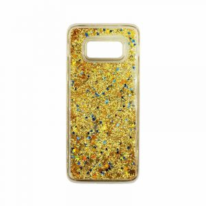 Θήκη Samsung Galaxy S8 Plus Liquid Glitter χρυσό 1