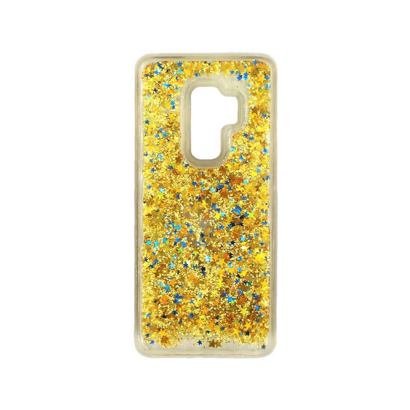 Θήκη Samsung Galaxy S9 Plus Liquid Glitter χρυσό 1