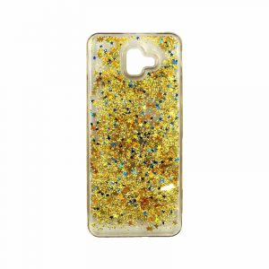 Θήκη Samsung Galaxy J6 Plus Liquid Glitter χρυσό 1