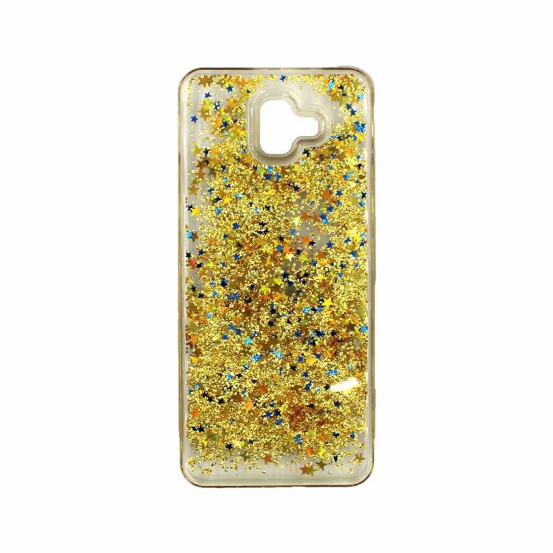Θήκη Samsung Galaxy J6 Plus Liquid Glitter χρυσό 1
