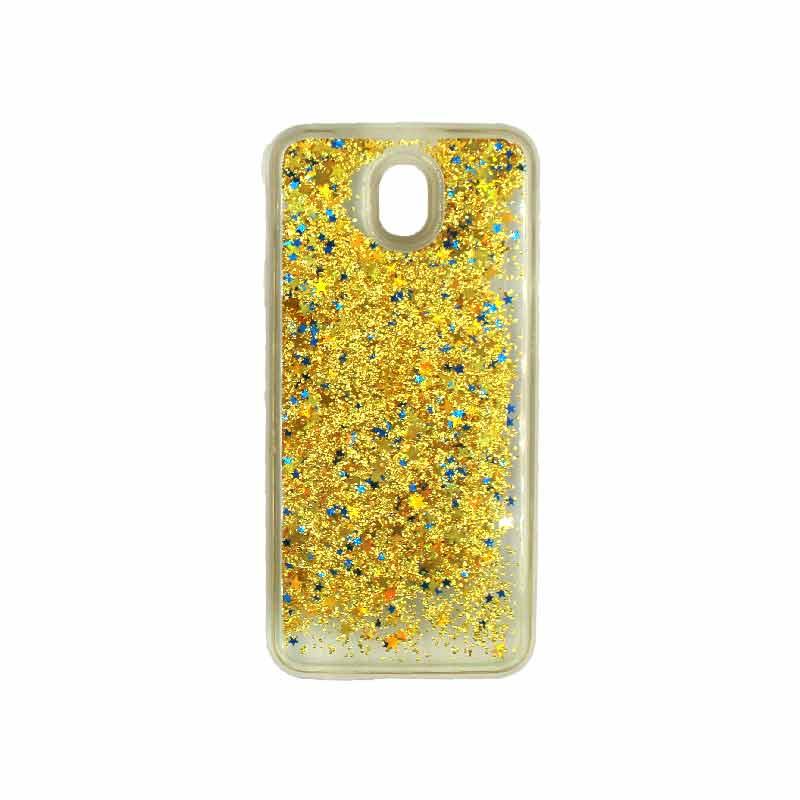 Θήκη Samsung Galaxy J3 2017 Liquid Glitter χρυσό 1