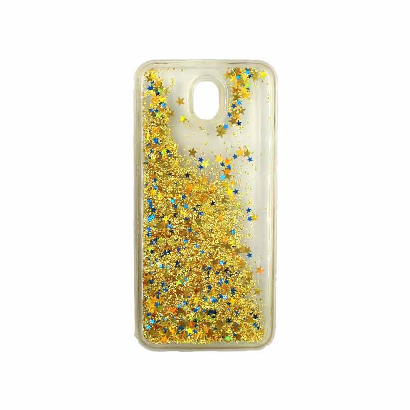 Θήκη Samsung Galaxy J5 2017 Liquid Glitter χρυσό 2