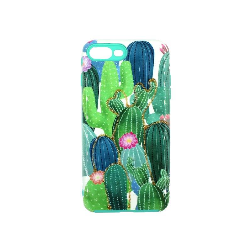 θήκη iphone 7 Plus / 8 Plus yellow cactus 1