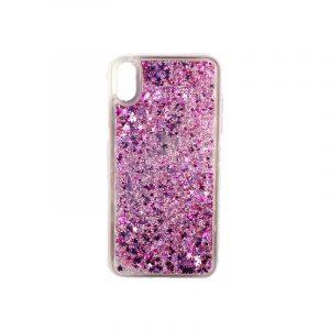 θήκη iphone X / XS / XR / XS MAX pro σιλικόνη glitter και αστεράκια ροζ 1