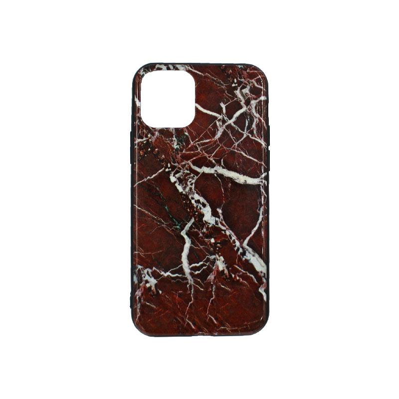 θήκη iPhone 11 pro σιλικόνη brown marble 1